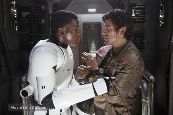 Star Wars: The Force Awakens - Publicity still of Oscar Isaac & John Boyega