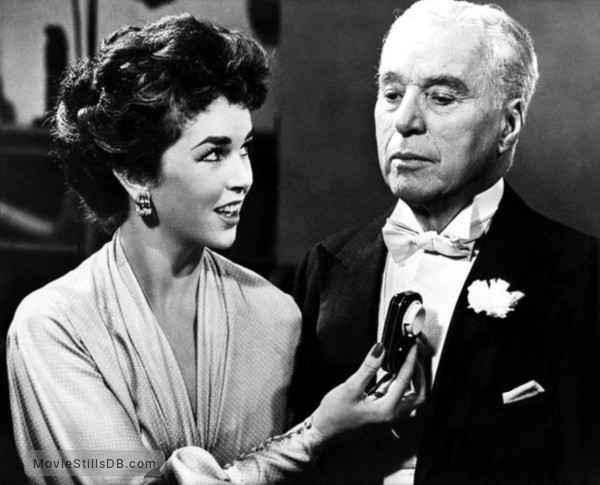 A King in New York - Publicity still of Charlie Chaplin & Maxine Audley