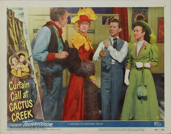 Curtain Call at Cactus Creek - Lobby card with Donald O'Connor, Gale Storm, Walter Brennan & Eve Arden