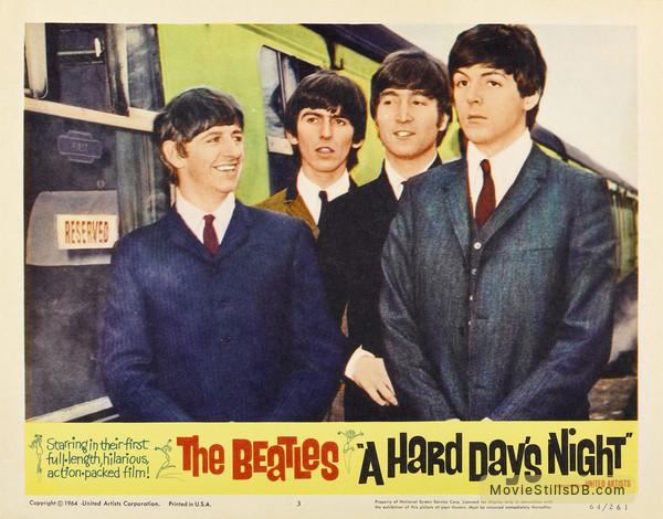 A Hard Day's Night - Lobby card with Ringo Starr, George Harrison, John Lennon & Paul McCartney