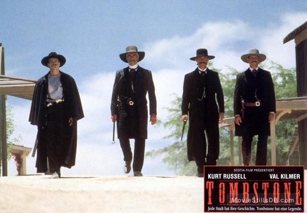 Tombstone - Lobby card with Val Kilmer, Sam Elliott, Kurt Russell & Bill Paxton