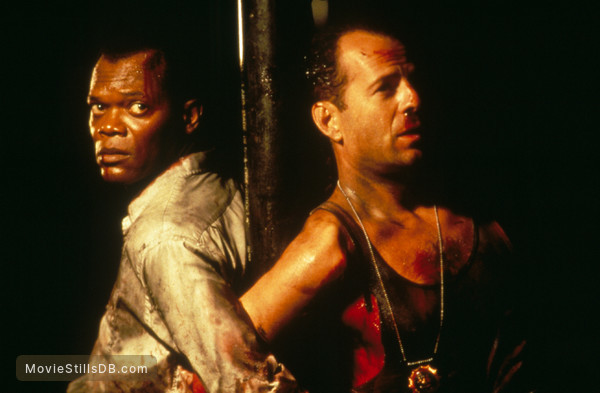 Die Hard: With a Vengeance - Publicity still of Bruce Willis & Samuel L. Jackson
