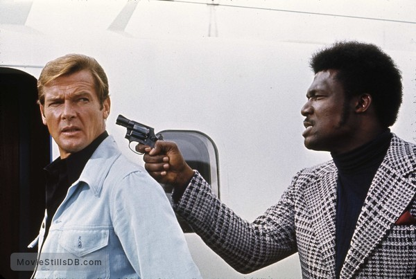 Live And Let Die - Publicity still of Roger Moore & Tommy Lane