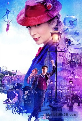 Mary Poppins Returns - Promotional art with Colin Firth, Meryl Streep, Lin-Manuel Miranda, Emily Mortimer, Julie Walters, Ben Whishaw, Emily Blunt & Angela Lansbury