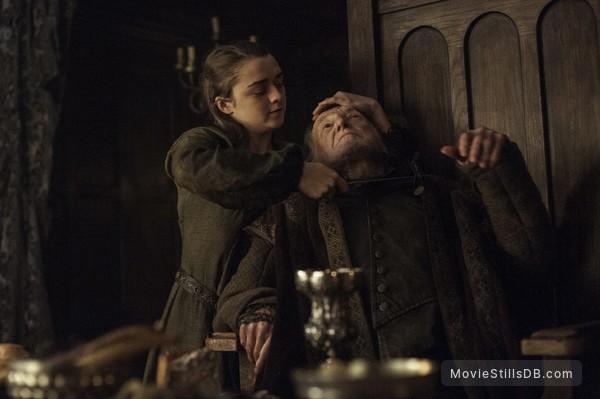 Game of Thrones - Publicity still of Maisie Williams & David Bradley