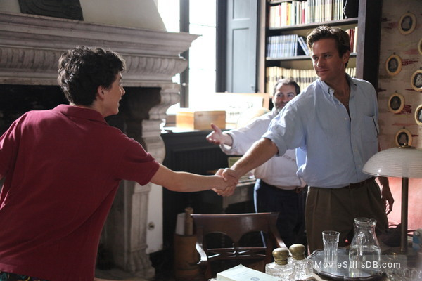 Call Me by Your Name - Publicity still of Armie Hammer & Timothée Chalamet