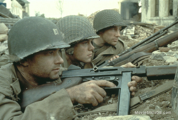 Saving Private Ryan - Publicity still of Tom Hanks, Matt Damon & Edward Burns