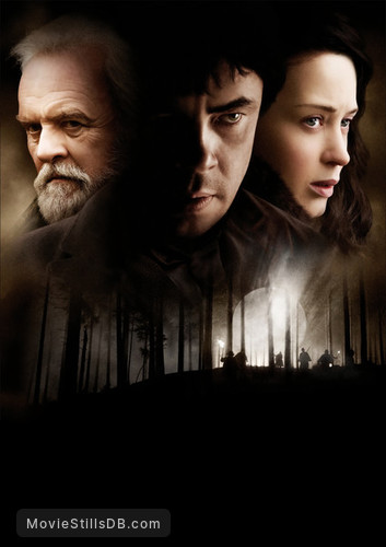 The Wolfman - Promotional art with Anthony Hopkins, Benicio del Toro & Emily Blunt
