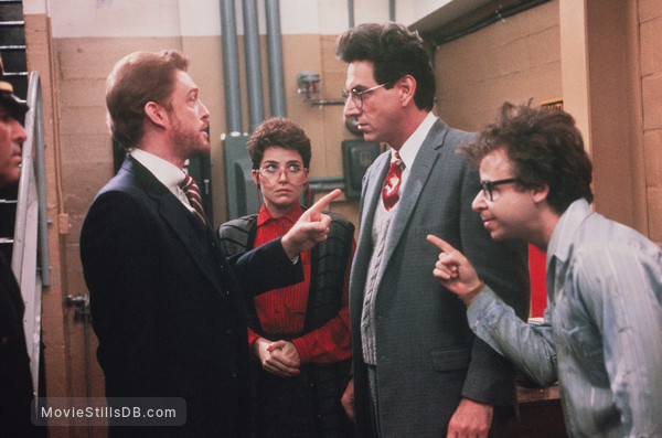 Ghost Busters - Publicity still of Harold Ramis, Rick Moranis, Annie Potts & William Atherton