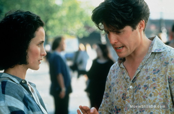 Four Weddings and a Funeral - Publicity still of Hugh Grant & Andie MacDowell