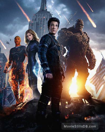 Fantastic Four - Promotional art with Kate Mara, Miles Teller & Michael B. Jordan