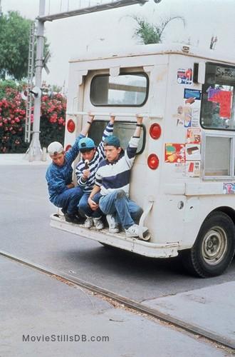 3 Ninjas Knuckle Up - Publicity still of Michael Treanor, Chad Power & Max Elliott Slade