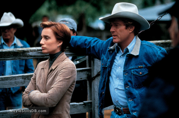 The Horse Whisperer - Publicity still of Kristin Scott Thomas & Robert Redford