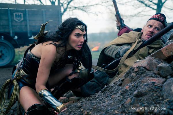 Wonder Woman - Publicity still of Gal Gadot & Ewen Bremner