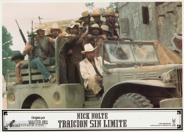 Extreme Prejudice - Lobby card with Powers Boothe