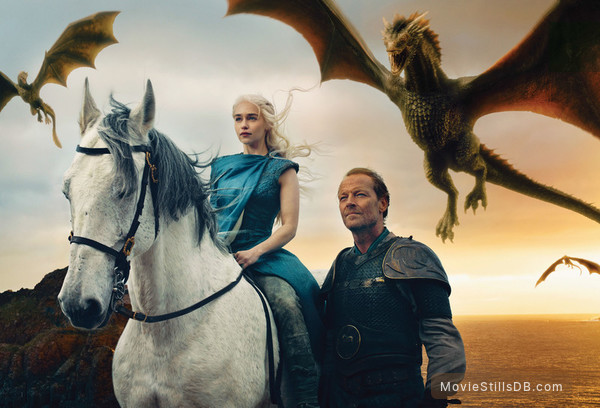 Game of Thrones - Promotional art with Emilia Clarke & Iain Glen