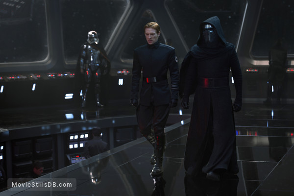 Star Wars: The Force Awakens - Publicity still of Domhnall Gleeson, Adam Driver & Gwendoline Christie