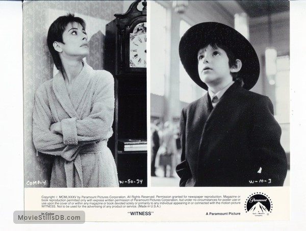 Witness - Publicity still of Lukas Haas & Patti LuPone