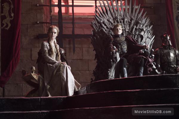 Game of Thrones - Publicity still of Jack Gleeson & Lena Headey