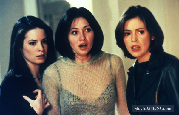 Charmed - Publicity still of Alyssa Milano, Holly Marie Combs & Shannen Doherty