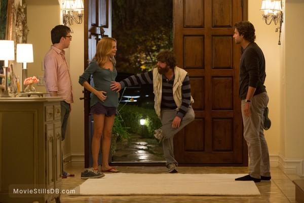 The Hangover Part III - Publicity still of Bradley Cooper, Zach Galifianakis, Ed Helms & Heather Graham