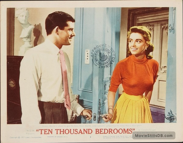 Ten Thousand Bedrooms Lobby Card With Dewey Martin Anna Maria Alberghetti