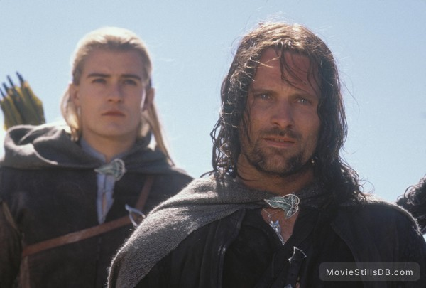The Lord of the Rings: The Two Towers - Publicity still of Orlando Bloom & Viggo Mortensen