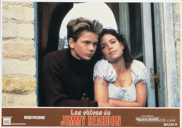A Night in the Life of Jimmy Reardon - Lobby card with River Phoenix & Louanne