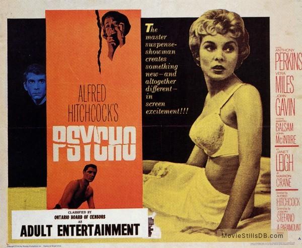 Psycho - Lobby card with Anthony Perkins, Vera Miles, Janet Leigh & John Gavin