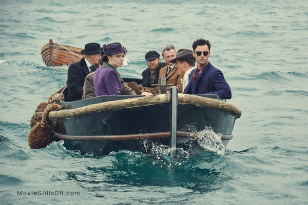 And Then There Were None - Publicity still of Maeve Dermody, Charles Dance, Aidan Turner, Sam Neill, Toby Stephens & Christopher Hatherall