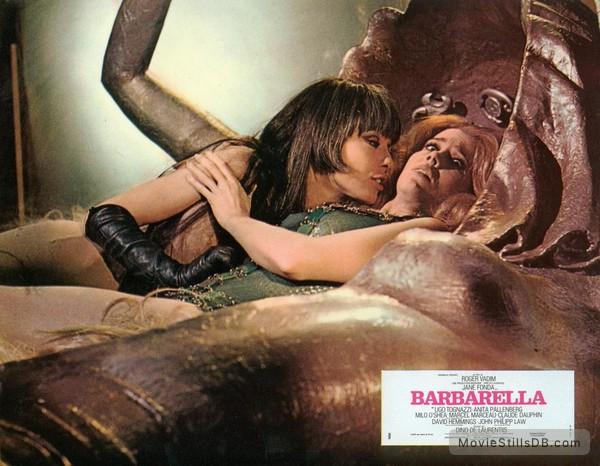 Barbarella - Lobby card with Jane Fonda & Anita Pallenberg
