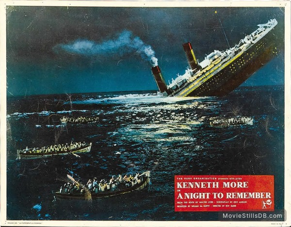 Titanic 1958 A Night To Remember Movie Poster. Art Posters Art roomburgh.nl