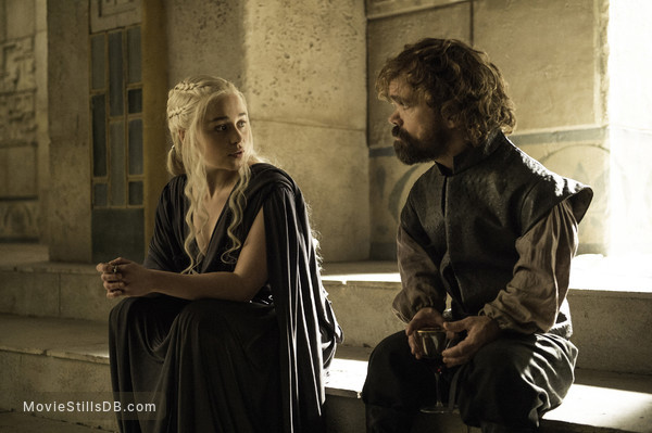 Game of Thrones - Publicity still of Peter Dinklage & Emilia Clarke