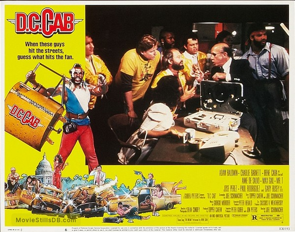 D.C. Cab - Lobby card with Bill Maher, Gary Busey, Max Gail, Mr. T & Paul Rodríguez