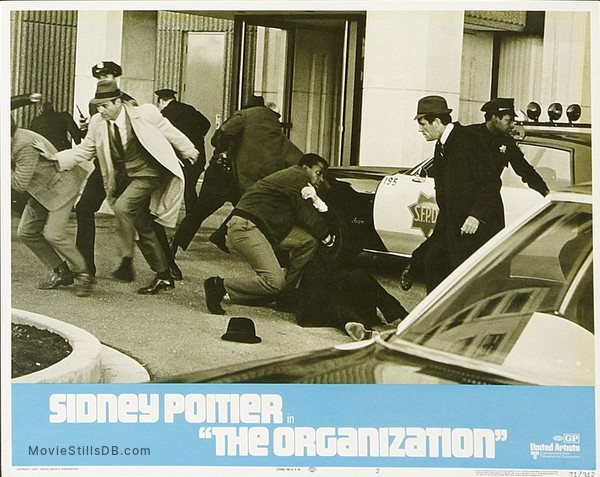 The Organization - Lobby card with Sidney Poitier & Gerald S Oloughlin