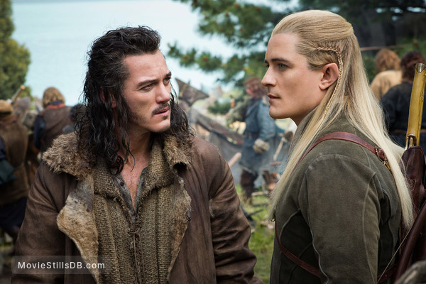 The Hobbit: The Battle of the Five Armies - Publicity still of Luke Evans & Orlando Bloom