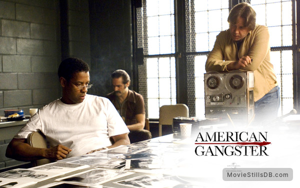 American Gangster - Wallpaper with Russell Crowe & Denzel Washington