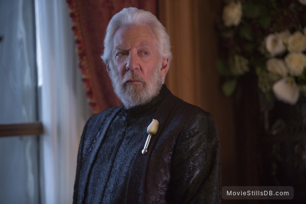 The Hunger Games: Mockingjay - Part 2 - Publicity still of Donald Sutherland