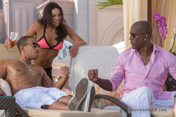 Furious 7 - Publicity still of Ludacris, Tyrese Gibson & Michelle Rodriguez