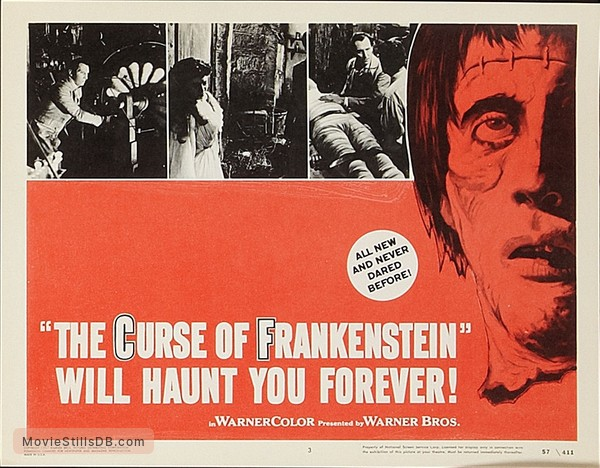 The Curse of Frankenstein - Lobby card