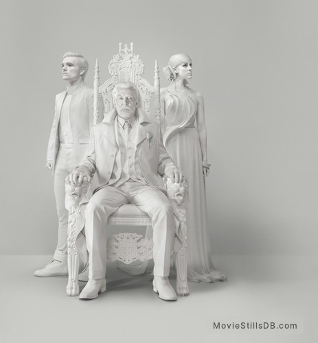 The Hunger Games: Mockingjay - Part 1 - Promotional art with Josh Hutcherson, Donald Sutherland & Jena Malone