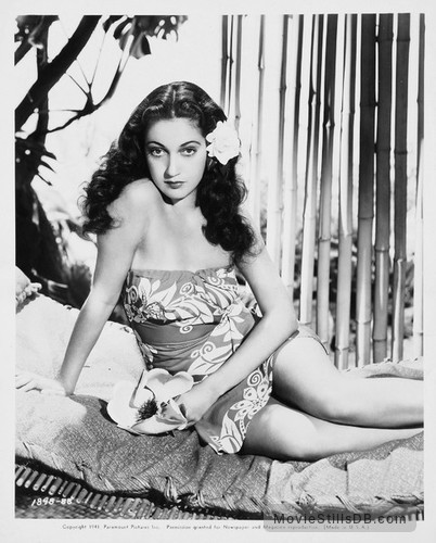 Aloma of the South Seas - Publicity still of Dorothy Lamour