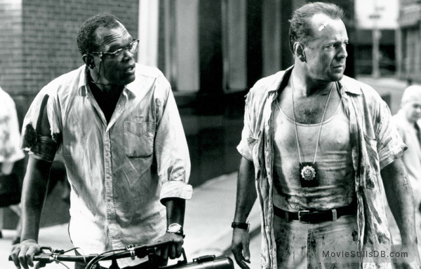 Die Hard: With a Vengeance - Publicity still of Samuel L. Jackson & Bruce Willis