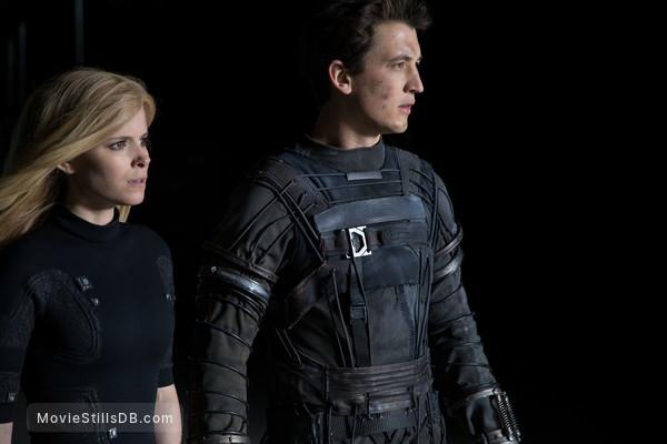 Fantastic Four - Publicity still of Kate Mara & Miles Teller