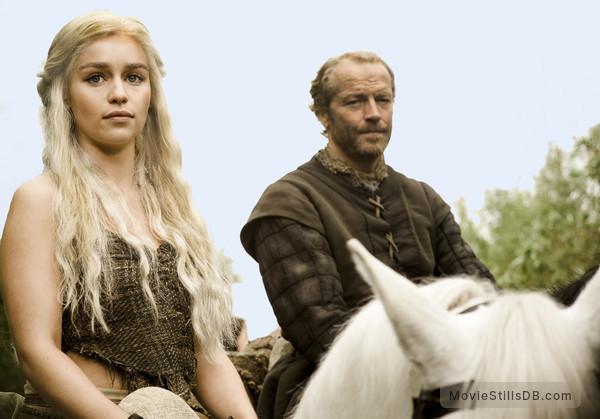Game of Thrones - Publicity still of Emilia Clarke & Iain Glen