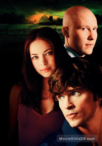 Smallville - Promotional art with Tom Welling, Kristin Kreuk & Michael Rosenbaum