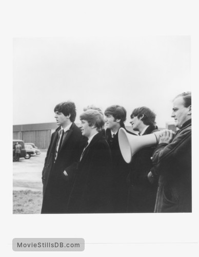 A Hard Day's Night - Publicity still of John Lennon, Ringo Starr, George Harrison & Paul McCartney