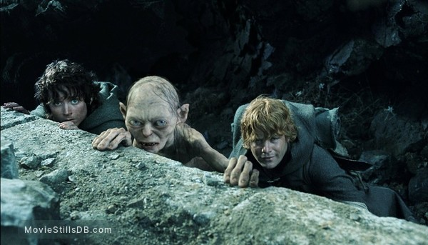 The Lord of the Rings: The Return of the King - Publicity still of Elijah Wood, Sean Astin & Andy Serkis