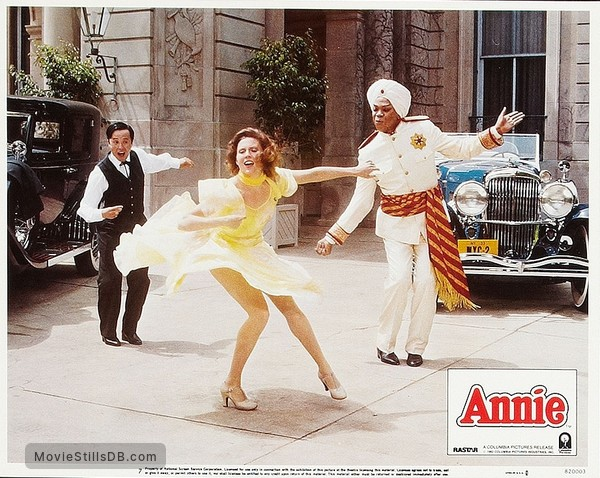 Annie - Lobby card with Geoffrey Holder, Ann Reinking & Roger Minami