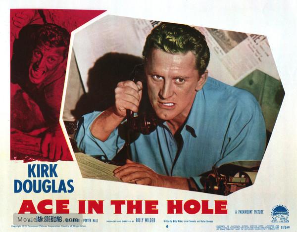 Ace in the Hole - Lobby card with Kirk Douglas